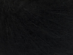 Knitted as 4 ply Fiber Content 40% Polyamide, 30% Kid Mohair, 30% Acrylic, Brand ICE, Black, Yarn Thickness 1 SuperFine  Sock, Fingering, Baby, fnt2-56512