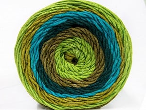Fiber Content 100% Acrylic, Turquoise, Teal, Brand Ice Yarns, Green Shades, Camel, fnt2-56551