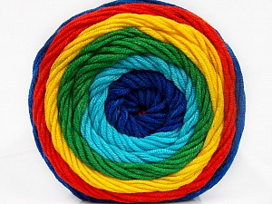 Fiber Content 100% Acrylic, Yellow, Turquoise, Red, Brand ICE, Green, Blue, Yarn Thickness 4 Medium  Worsted, Afghan, Aran, fnt2-56557