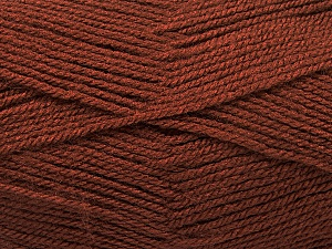 Fiber Content 100% Acrylic, Brand ICE, Brown, Yarn Thickness 3 Light  DK, Light, Worsted, fnt2-56563