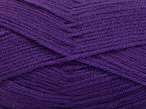 Fiber Content 100% Acrylic, Purple, Brand ICE, Yarn Thickness 3 Light  DK, Light, Worsted, fnt2-56572