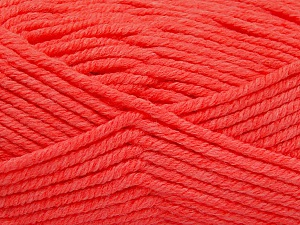 Fiber Content 80% Acrylic, 20% Polyamide, Neon Orange, Brand ICE, Yarn Thickness 5 Bulky  Chunky, Craft, Rug, fnt2-56589
