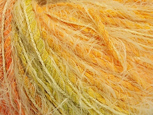 Fiber Content 60% Polyamide, 20% Cotton, 20% Acrylic, Orange, Brand ICE, Green, Gold, fnt2-56753