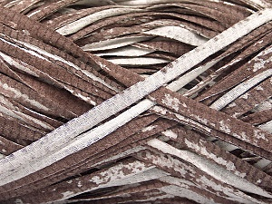 Fiber Content 100% Cotton, White, Brand ICE, Brown, Yarn Thickness 5 Bulky  Chunky, Craft, Rug, fnt2-56787