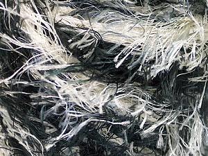 Fiber Content 100% Polyester, White, Brand ICE, Grey Shades, Black, Yarn Thickness 5 Bulky  Chunky, Craft, Rug, fnt2-56854