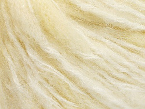 Fiber Content 40% Wool, 30% Polyamide, 15% Acrylic, 15% Mohair, Brand ICE, Cream, Yarn Thickness 4 Medium  Worsted, Afghan, Aran, fnt2-56876