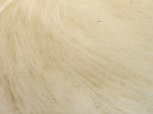 Fiber Content 70% Mohair, 30% Acrylic, Brand ICE, Cream, Yarn Thickness 5 Bulky  Chunky, Craft, Rug, fnt2-56878