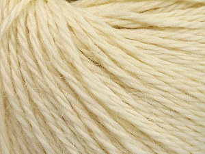 Fiber Content 54% Wool, 43% Acrylic, 3% Viscose, Brand ICE, Cream, Yarn Thickness 4 Medium  Worsted, Afghan, Aran, fnt2-56879