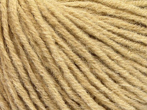 Fiber Content 50% Wool, 50% Acrylic, Brand ICE, Beige, Yarn Thickness 4 Medium  Worsted, Afghan, Aran, fnt2-56905