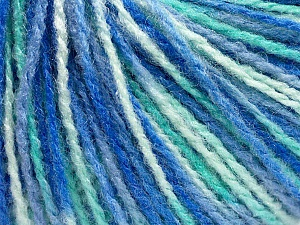 Fiber Content 100% Acrylic, White, Mint Green, Brand ICE, Blue Shades, fnt2-56918