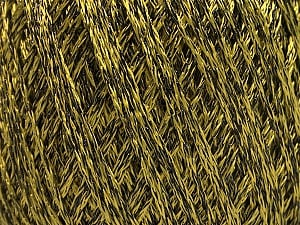 Fiber Content 85% Viscose, 25% Metallic Lurex, Olive Green, Brand ICE, Black, Yarn Thickness 3 Light  DK, Light, Worsted, fnt2-57038