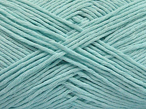 Please note that the yarn weight and the ball length may vary from one color to another for this yarn. Fiber Content 100% Cotton, Light Mint Green, Brand ICE, Yarn Thickness 3 Light  DK, Light, Worsted, fnt2-57164