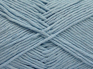 Please note that the yarn weight and the ball length may vary from one color to another for this yarn. Fiber Content 100% Cotton, Brand ICE, Baby Blue, Yarn Thickness 3 Light  DK, Light, Worsted, fnt2-57165
