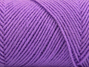 Fiber Content 50% Acrylic, 50% Wool, Lilac, Brand ICE, Yarn Thickness 3 Light  DK, Light, Worsted, fnt2-57177