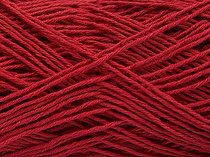 Fiber Content 100% Cotton, Brand ICE, Burgundy, Yarn Thickness 1 SuperFine  Sock, Fingering, Baby, fnt2-57187