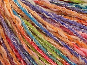 Fiber Content 50% Cotton, 50% Acrylic, Salmon Shades, Orange, Lavender, Brand ICE, Green, Yarn Thickness 4 Medium  Worsted, Afghan, Aran, fnt2-57288
