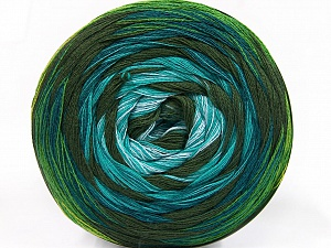 Fiber Content 50% Acrylic, 50% Cotton, Turquoise, Light Blue, Khaki, Brand ICE, Green Shades, Yarn Thickness 2 Fine  Sport, Baby, fnt2-57331