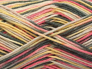 Fiber Content 100% Acrylic, Yellow, Pink, Brand ICE, Grey, Yarn Thickness 2 Fine  Sport, Baby, fnt2-57351