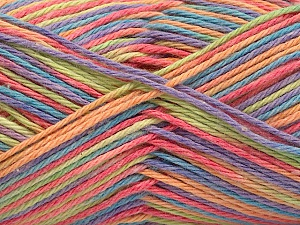 Fiber Content 100% Acrylic, Turquoise, Salmon, Orange, Lilac, Brand ICE, Yarn Thickness 2 Fine  Sport, Baby, fnt2-57356