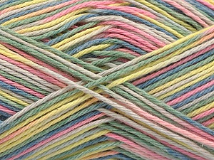 Fiber Content 100% Acrylic, Yellow, Pink, Light Green, Brand ICE, Cream, Blue, Yarn Thickness 2 Fine  Sport, Baby, fnt2-57358