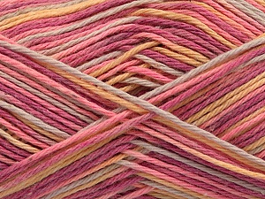 Fiber Content 100% Acrylic, Yellow, Pink, Orchid, Light Grey, Brand ICE, Yarn Thickness 2 Fine  Sport, Baby, fnt2-57363
