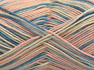 Fiber Content 100% Acrylic, Light Pink, Brand ICE, Cream, Blue Shades, Yarn Thickness 2 Fine  Sport, Baby, fnt2-57366