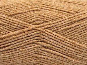 Fiber Content 80% Acrylic, 20% Polyamide, Brand ICE, Cafe Latte, Yarn Thickness 3 Light  DK, Light, Worsted, fnt2-57373