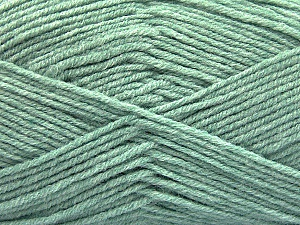 Fiber Content 80% Acrylic, 20% Polyamide, Mint Green, Brand ICE, Yarn Thickness 3 Light  DK, Light, Worsted, fnt2-57377