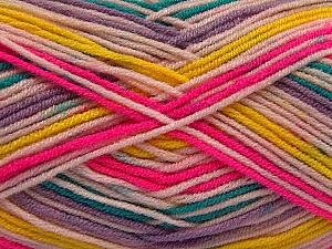 Fiber Content 100% Acrylic, Yellow, Pink, Lilac, Brand ICE, Green, Yarn Thickness 3 Light  DK, Light, Worsted, fnt2-57388