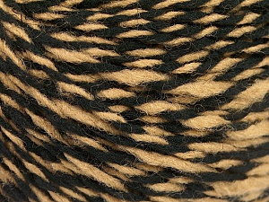 Fiber Content 70% Acrylic, 30% Wool, Light Brown, Brand ICE, Black, fnt2-57527