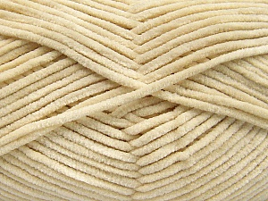 Fiber Content 100% Micro Fiber, Brand ICE, Cream, Yarn Thickness 3 Light  DK, Light, Worsted, fnt2-57652