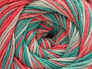 Fiber Content 100% Acrylic, White, Salmon Shades, Mint Green, Brand ICE, fnt2-57745
