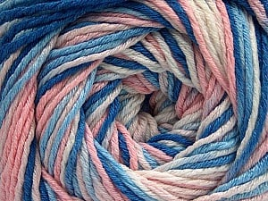 Fiber Content 100% Acrylic, White, Light Pink, Brand ICE, Blue Shades, fnt2-57746