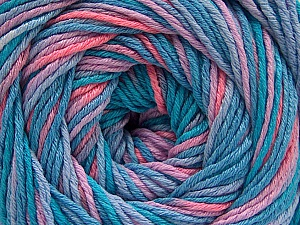 Fiber Content 100% Acrylic, Turquoise Shades, Salmon, Lilac, Brand ICE, fnt2-57749