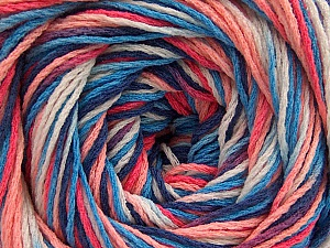 Fiber Content 100% Acrylic, White, Salmon Shades, Brand ICE, Blue Shades, fnt2-57752