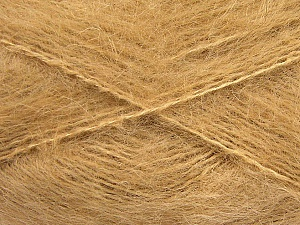 Fiber Content 70% Mohair, 30% Acrylic, Light Brown, Brand ICE, fnt2-57794