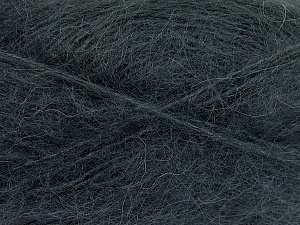 Fiber Content 70% Mohair, 30% Acrylic, Brand ICE, Anthracite Black, fnt2-57795