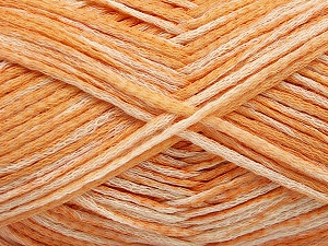 Fiber Content 80% Cotton, 20% Polyamide, Orange Shades, Brand ICE, fnt2-57934
