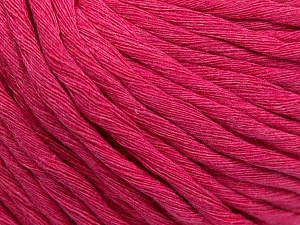 Fiber Content 100% Cotton, Brand ICE, Fuchsia, Yarn Thickness 5 Bulky  Chunky, Craft, Rug, fnt2-57940