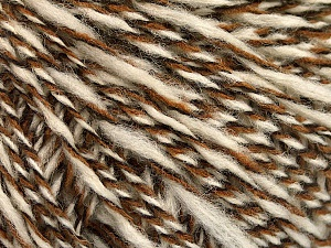 Fiber Content 50% Wool, 50% Acrylic, White, Brand ICE, Brown Shades, fnt2-57988