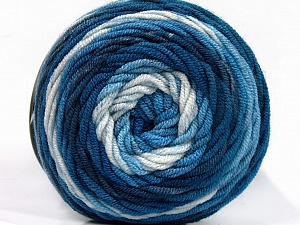 Fiber Content 100% Acrylic, White, Brand ICE, Blue Shades, fnt2-58024