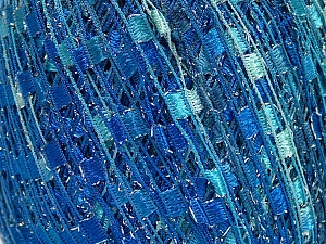 Trellis  Fiber Content 95% Polyester, 5% Lurex, Turquoise, Brand ICE, Blue Shades, fnt2-58061