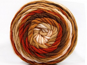 Fiber Content 100% Acrylic, Brand ICE, Brown Shades, Yarn Thickness 4 Medium  Worsted, Afghan, Aran, fnt2-58135