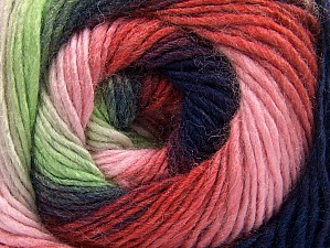 Fiber Content 70% Acrylic, 30% Wool, Red, Purple, Pink Shades, Brand ICE, Green Shades, Yarn Thickness 3 Light  DK, Light, Worsted, fnt2-58145