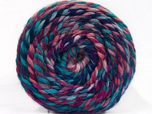 Fiber Content 70% Acrylic, 30% Wool, Turquoise, Purple, Pink, Lavender, Brand ICE, Yarn Thickness 6 SuperBulky  Bulky, Roving, fnt2-58157