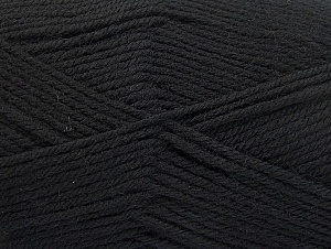 Fiber Content 100% Superwash Wool, Brand ICE, Black, fnt2-58180