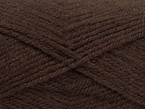 Fiber Content 50% Acrylic, 50% Wool, Brand ICE, Dark Brown, fnt2-58182