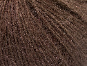 Fiber Content 50% Acrylic, 30% Kid Mohair, 20% Polyamide, Brand ICE, Brown, fnt2-58346