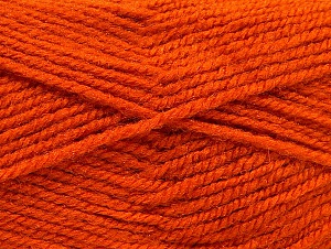 Fiber Content 50% Wool, 50% Acrylic, Orange, Brand ICE, fnt2-58377