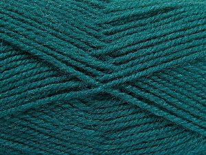 Fiber Content 50% Wool, 50% Acrylic, Teal, Brand ICE, fnt2-58385